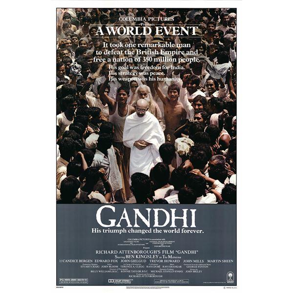 Gandhi 1982 original one sheet movie poster