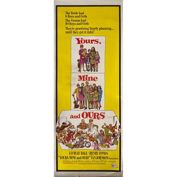 Yours, Mine and Ours 1968 original vintage insert card