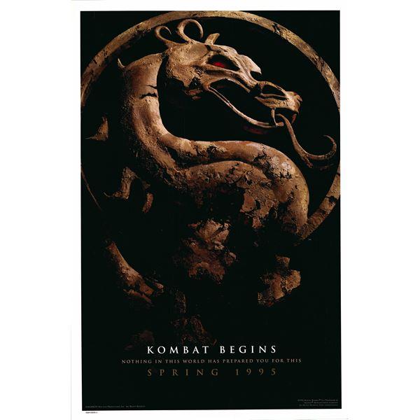 Mortal Kombat 1995 original movie poster