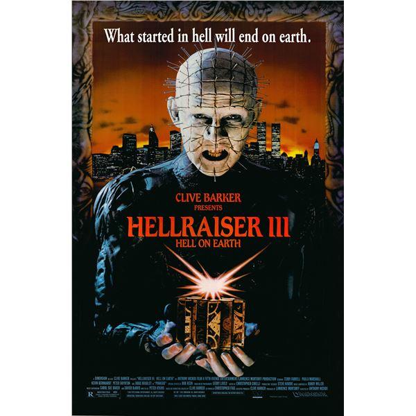 Hellraiser III 1992 original movie poster