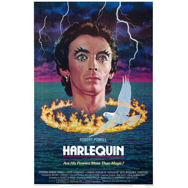 Harlequin 1982 original vintage movie poster