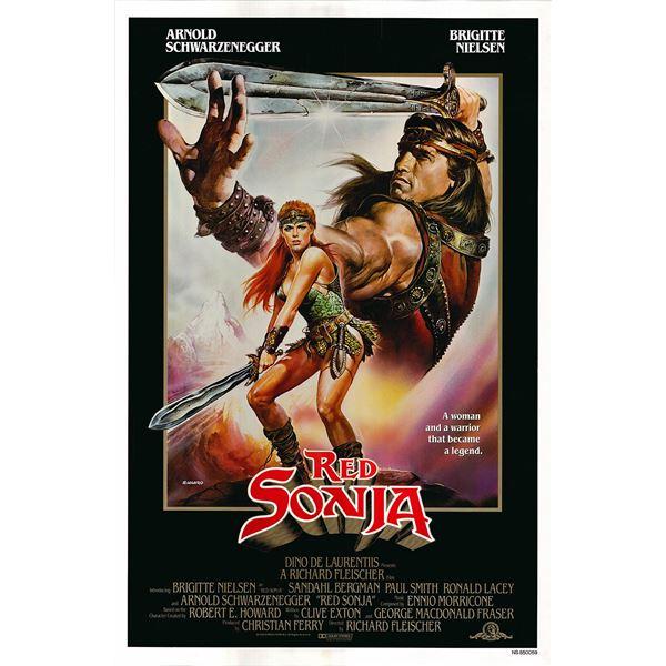 Red Sonia 1985 original vintage one sheet movie poster