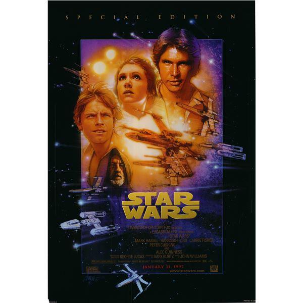 RARE Star Wars: Episode IV - A New Hope 1997 original one sheet poster