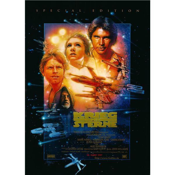 Star Wars Special Edition 1997 original German one sheet movie poster