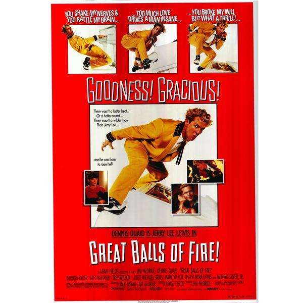 Great Balls of Fire! 1989 original vintage movie poster