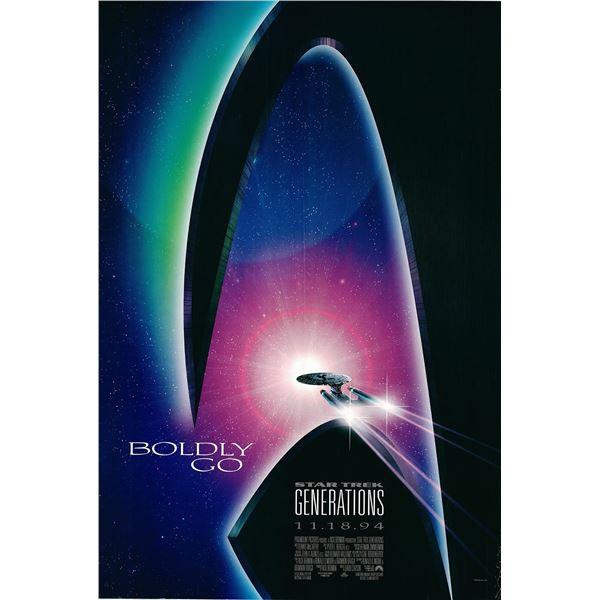 Star Trek Generations 1994 original advance sheet movie poster