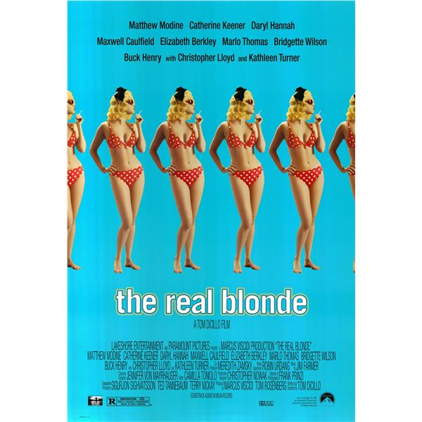 The Real Blonde 1998 original movie poster