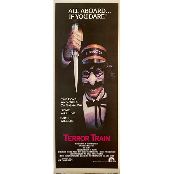 Terror Train 1980 original vintage insert card