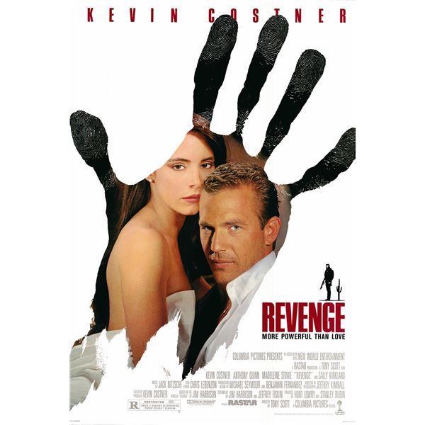 Revenge 1990 original one sheet movie poster