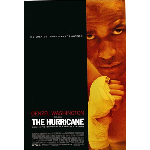 The Hurricane 1999 original one sheet movie poster