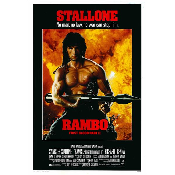 Rambo: First Blood Part II 1985 original vintage one sheet movie poster