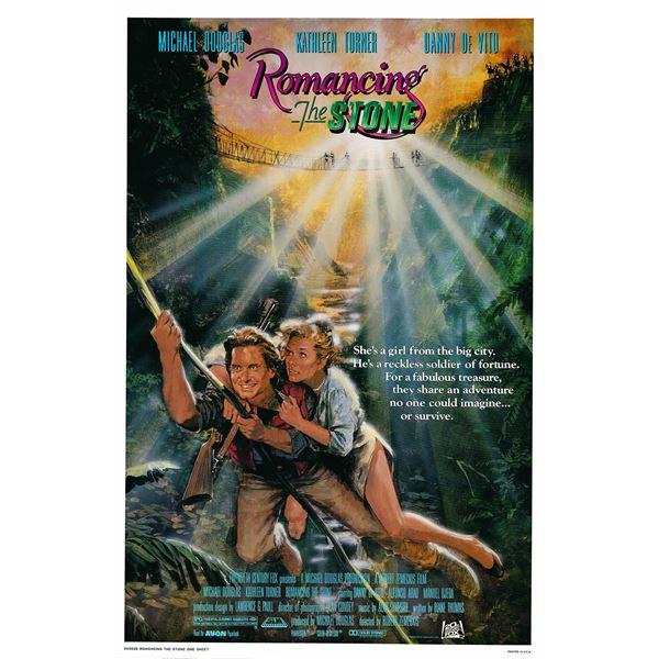 Romancing the Stone 1984 original vintage one sheet movie poster
