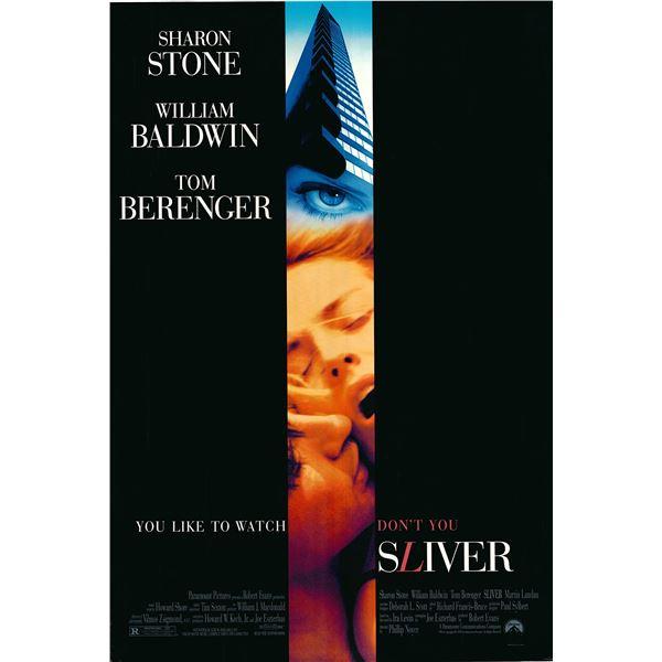 Sliver 1993 original one sheet movie poster