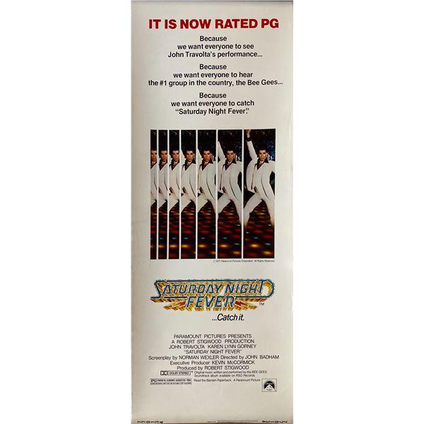 Saturday Night Fever 1977 original vintage insert card