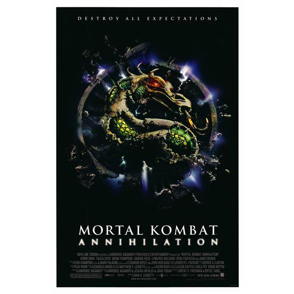 Mortal Kombat: Annihilation 1997 original movie poster