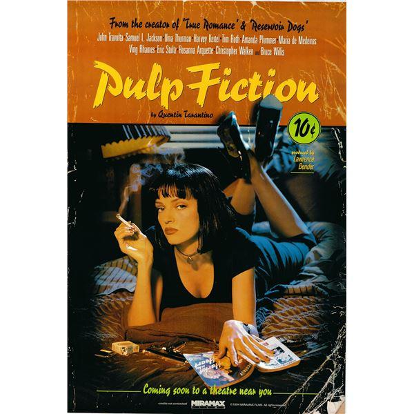Pulp Fiction 1994 original international advance sheet movie poster