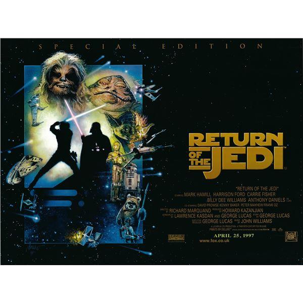 Return of the Jedi 1997 original special edition British quad poster