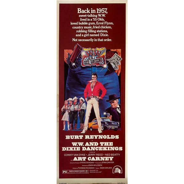 W.W. And the Dixie Dancekings 1975 original vintage insert card
