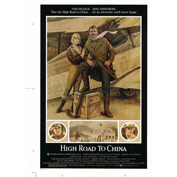High Road to China 1983 original vintage movie poster