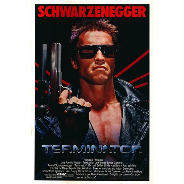 The Terminator 1984 original vintage movie poster