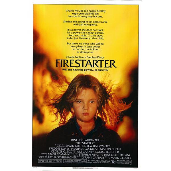 Firestarter 1984 original one sheet movie poster