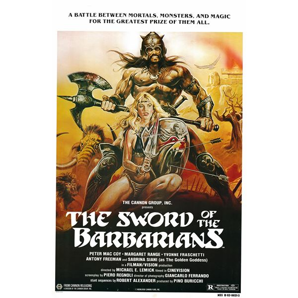 The Sword of the Barbarians 1983 original vintage movie poster