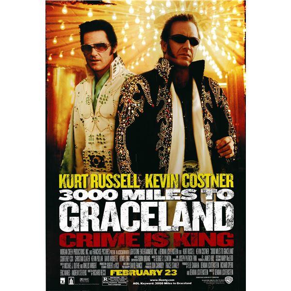 3000 Miles to Graceland 2001 original one sheet movie poster