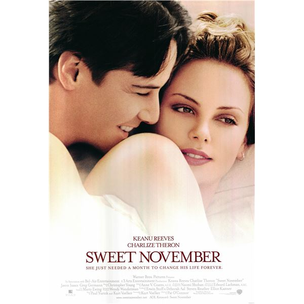 Sweet November 2001 original vintage movie poster