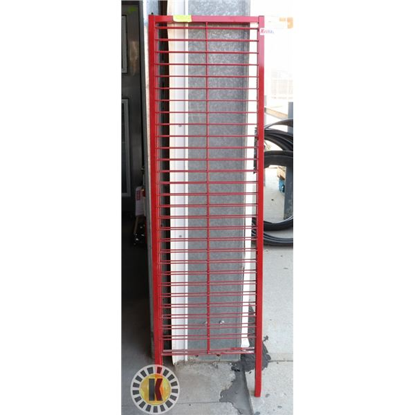 RED STORE SHELVING/FIXTURE