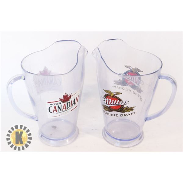 TWO BEER SERVERS (CANADIAN AND MILLER)