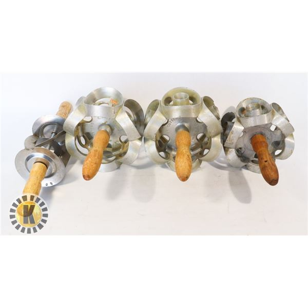 LOT OF 4 CAKE DONUT ROLLERS