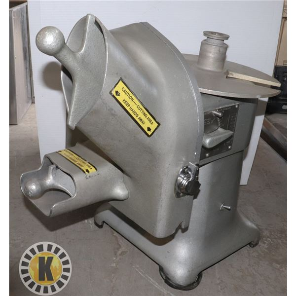 QUALHEIM ELECTRO CUT MODEL 400 SLAW MAKER/ CHEESE GRADER/