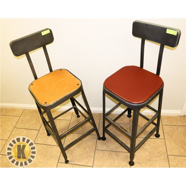 LOT OF 2 BAR HEIGHT STOOLS WITH BACK- STARBUCKS