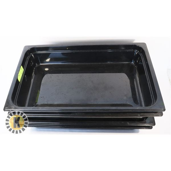 4 CARLISLE FULL SIZE 4'' CAMWEAR PAN- BLACK