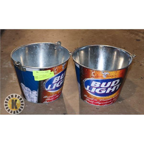 2 BUDLIGHT BEER BUCKETS