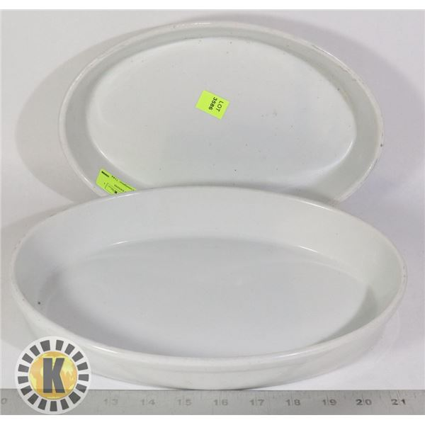 2 OVAL CERAMIC SERVING DISHES