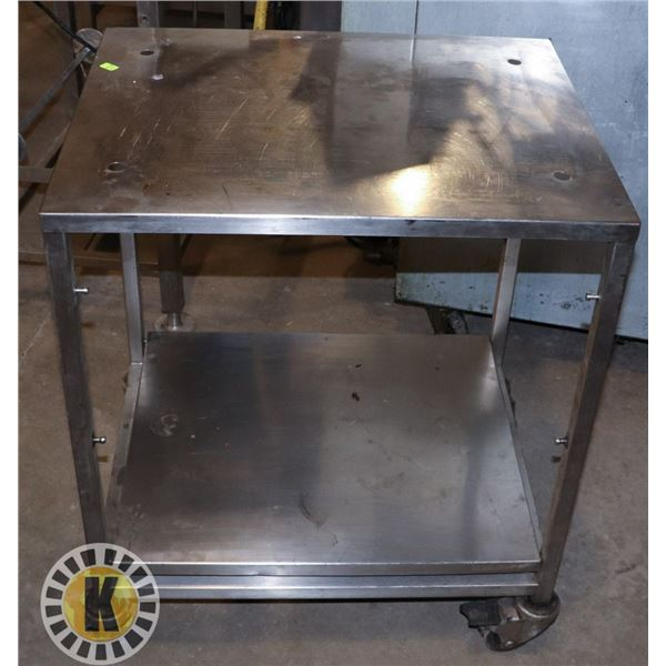 STAINLESS STEEL KITCHEN ROLLING CART