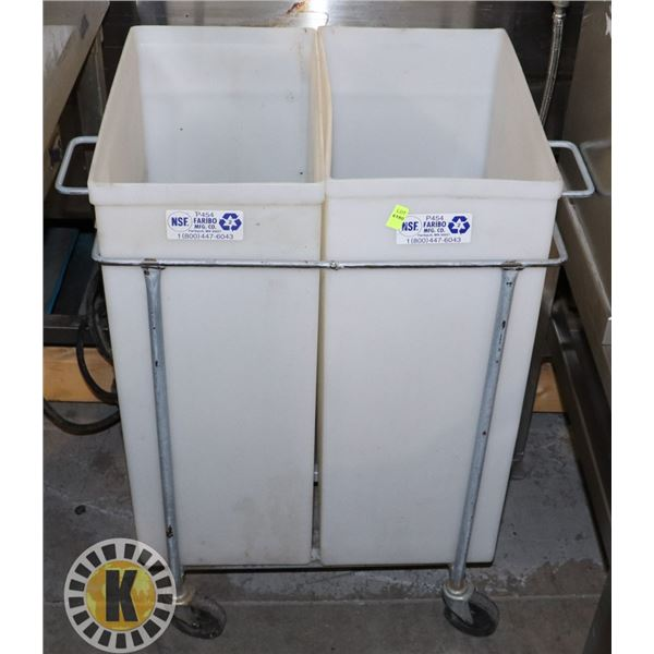 TWO COMPARTMENT ROLLING BIN