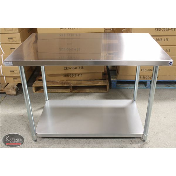 """NEW 30""""X48""""X34"""" STAINLESS STEEL WORKTABLE W/"""