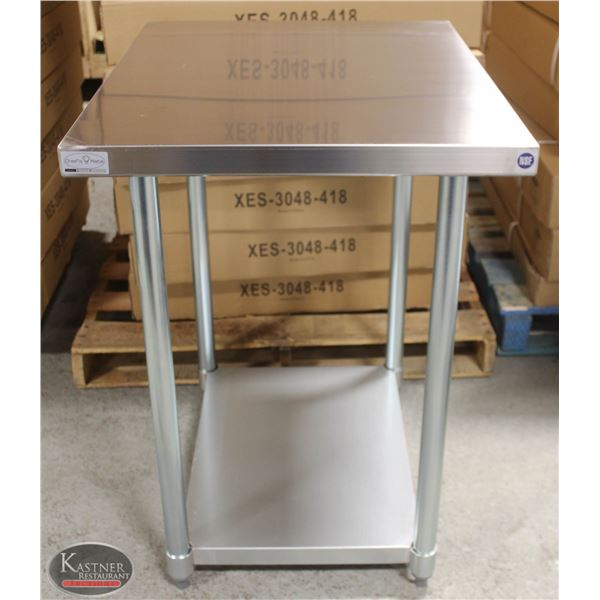 """NEW 30""""X24""""X34"""" STAINLESS STEEL WORKTABLE W/"""