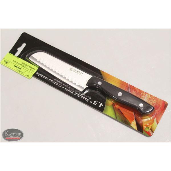 "NEW 4.5"" STAINLESS STEEL SANTOKU KNIFE"