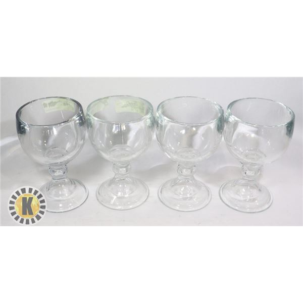 4 BULLDOG MARGARITA GLASSES