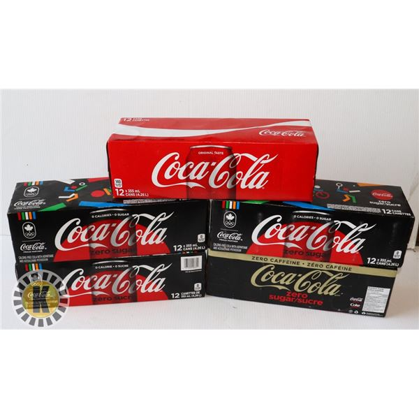 5 CASES OF COKE PRODUCTS