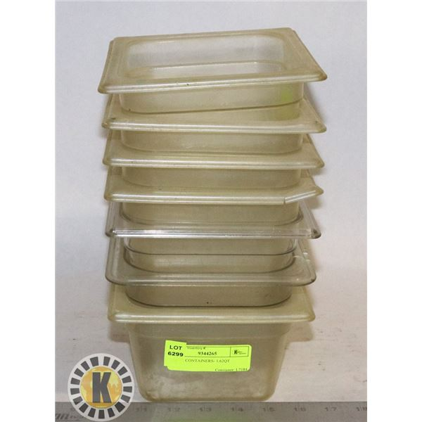 7 TRUE CONTAINERS- 1.62QT