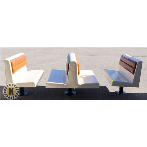 BOOTH SET- FIBERGLASS WITH 2 END AND 1 DOUBLE
