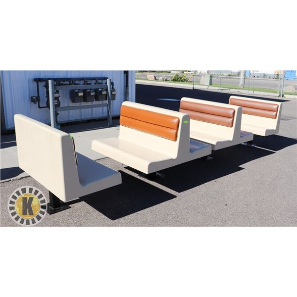 BOOTH SET- FIBERGLASS WITH 2 ENDS 2 DOUBLE