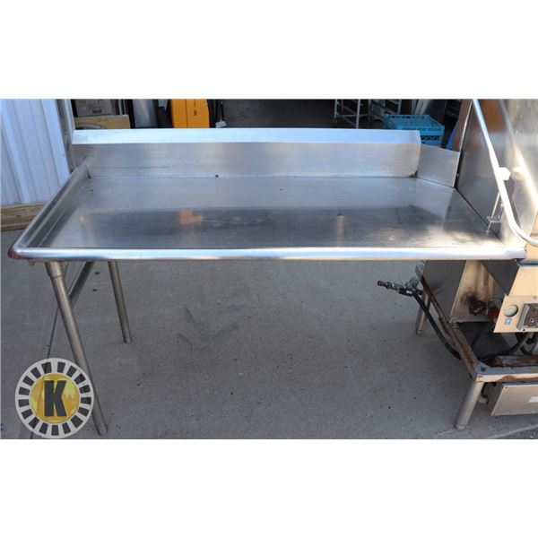 LEFT HAND SIDE S/S DISH DRYING TABLE