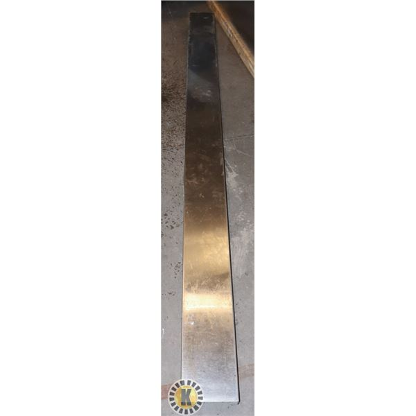 """LONG STAINLESS STEEL PANEL-107.5"""" BY 7.5'' BY 2"""""""