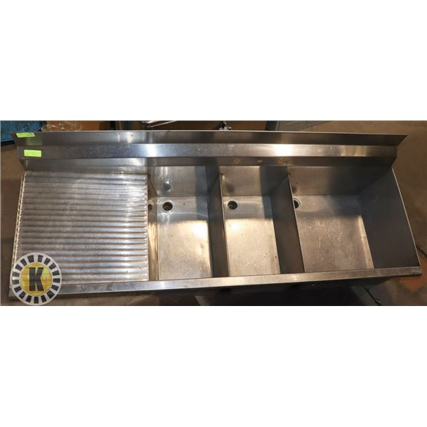 DROP-IN S/S 3 COMPARTMENT SINK