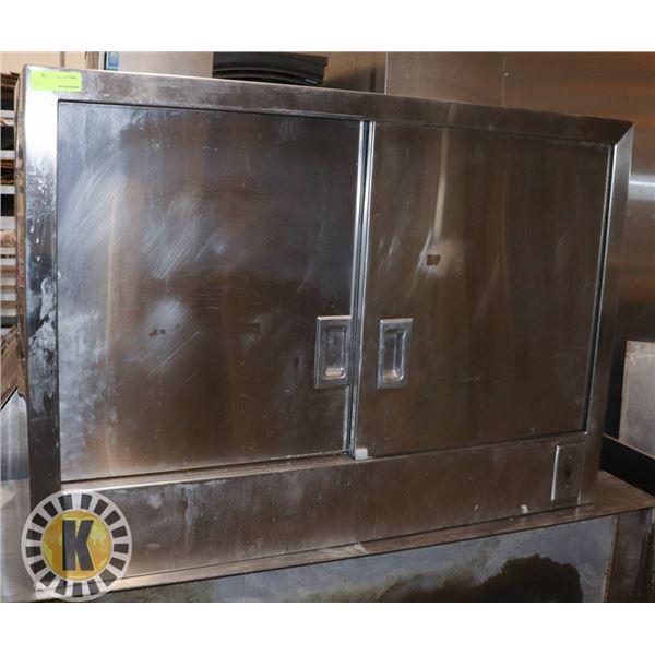 MET-TEC S/S WALL MOUNT CABINET W/ DOORS & LIGHTS